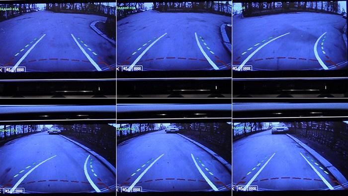 Камера заднего вида с динамической разметкой